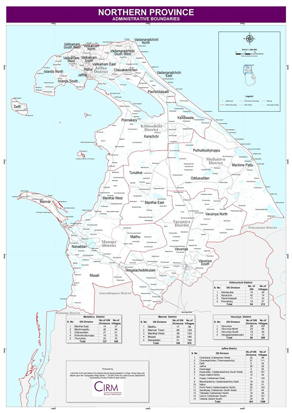 Map of Northern Province ::Consulate General of India, Jaffna Sri Lanka